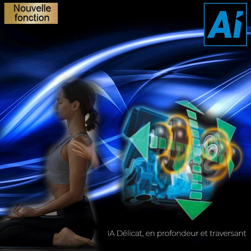 IA Délicat, en profondeur et traversant. Essayer d'atteindre le confort qui va audelà d'un massage manuel.