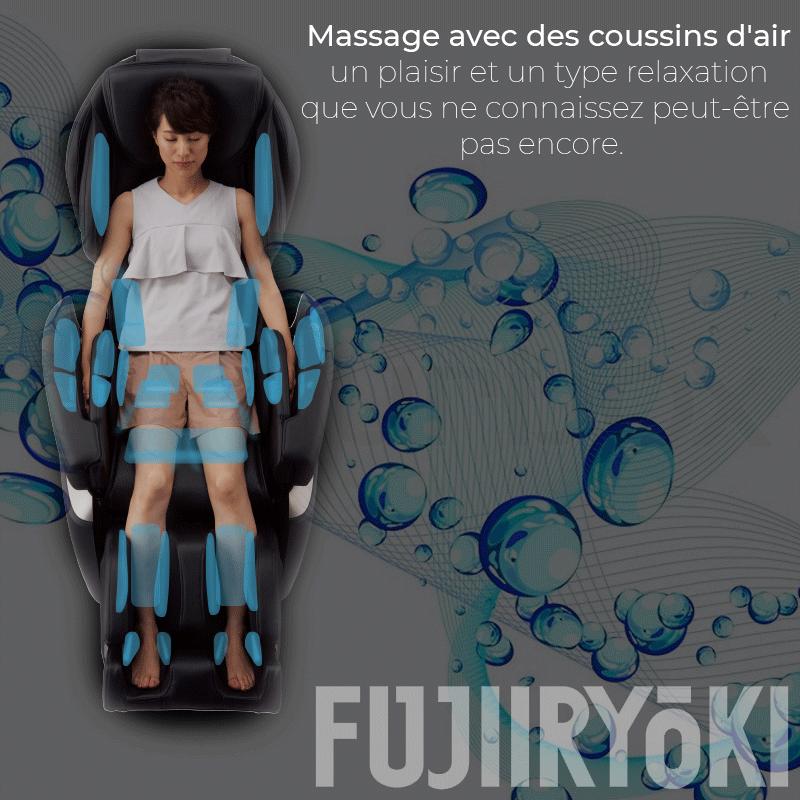 Massage avec des coussins d'air