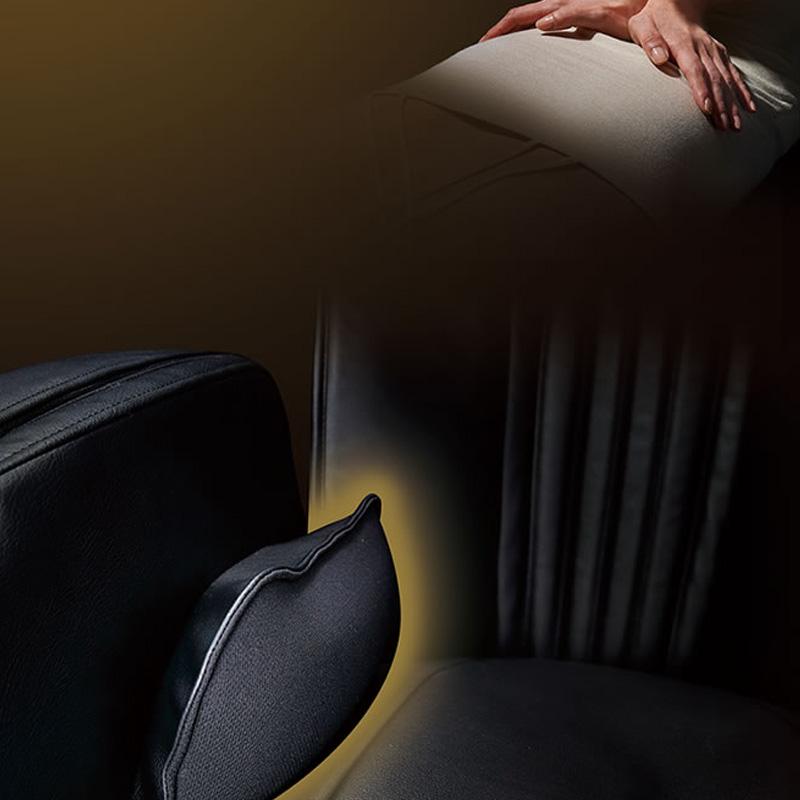 Le massage pulsé avec des coussinets d'air